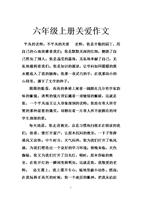 六年级上册关爱作文.doc