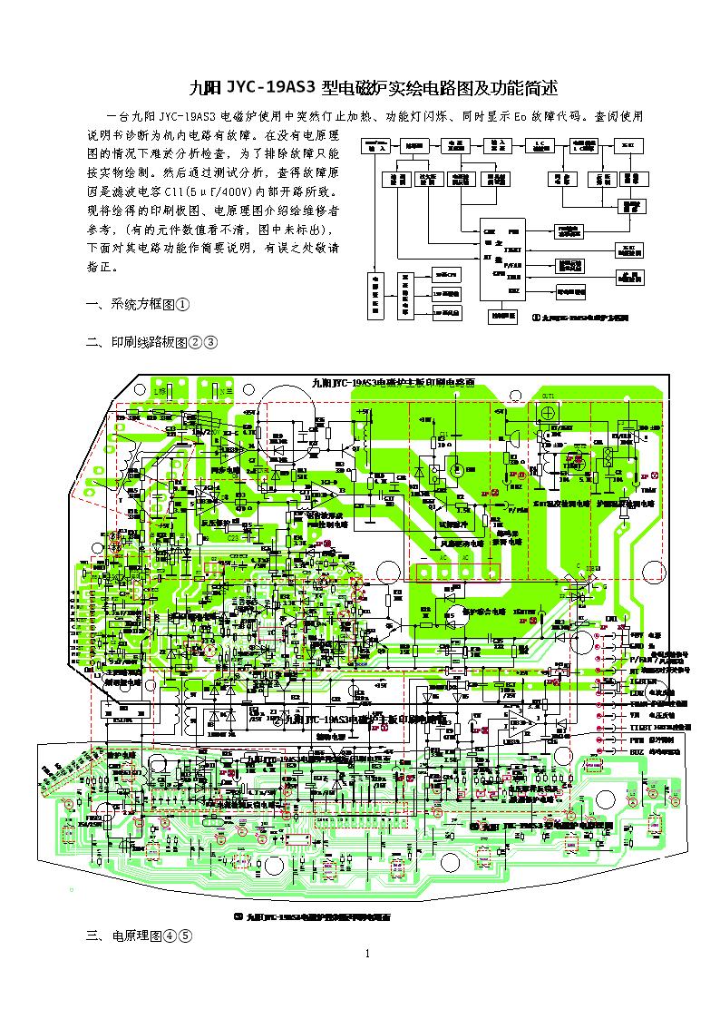九阳jyc-19as3电磁炉实绘电路图及简述.doc