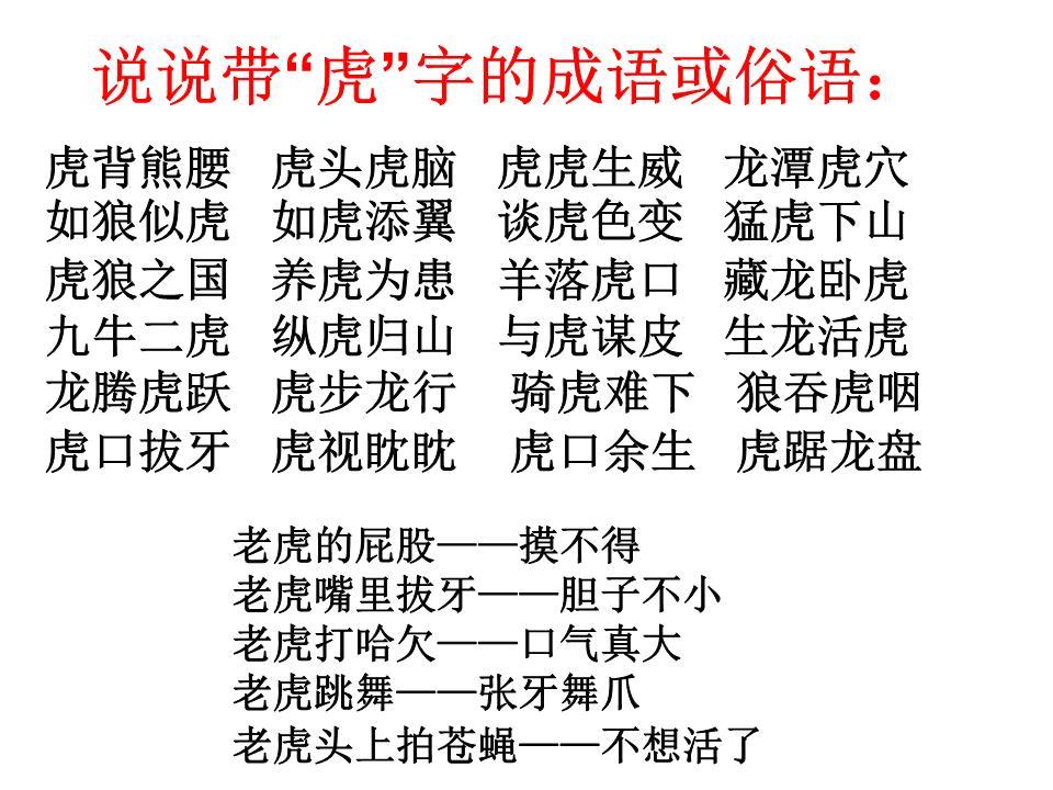《华南虎》ppt初中排名.ppt武陟课件质量教学解析图片