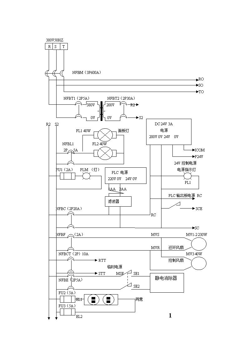 日星定型机电气原理图[精选].doc