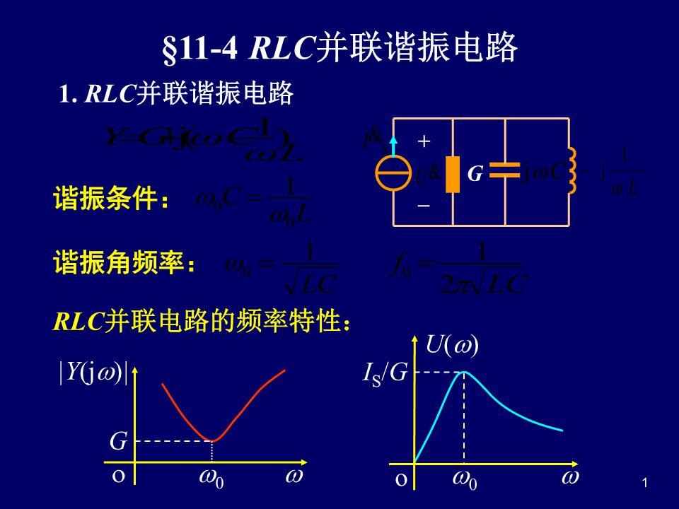 rlc并联谐振电路,波特图,滤波器简介.ppt