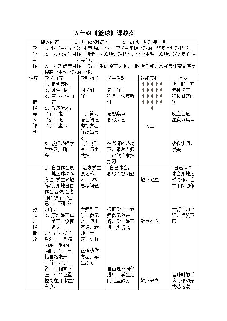 小学五年级篮球课教案3.doc龙江小学路路龙江成都房学区图片