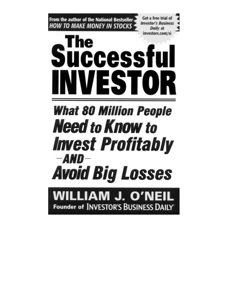 The Successful Investor:(成功的投资者) PDF